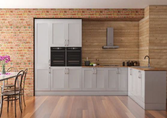 Richmond High Gloss Light Grey Kitchen