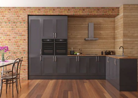 Richmond High Gloss Dust Grey Kitchen