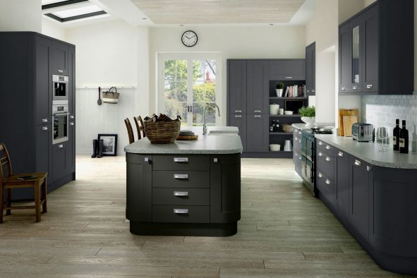 Cambridge High Gloss Dust Grey Kitchen Doors