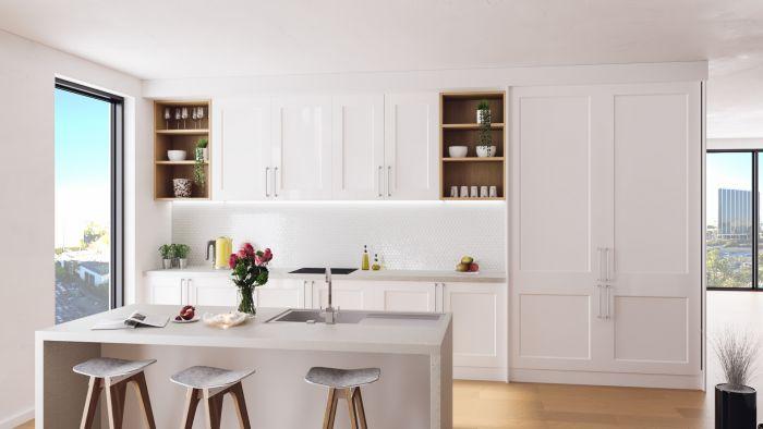 Bella High Gloss White Cambridge Kitchen Doors