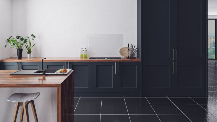 Bella Indigo Blue Cambridge Kitchen Doors