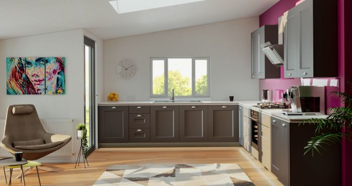 Cambridge Matt Graphite Kitchen Door