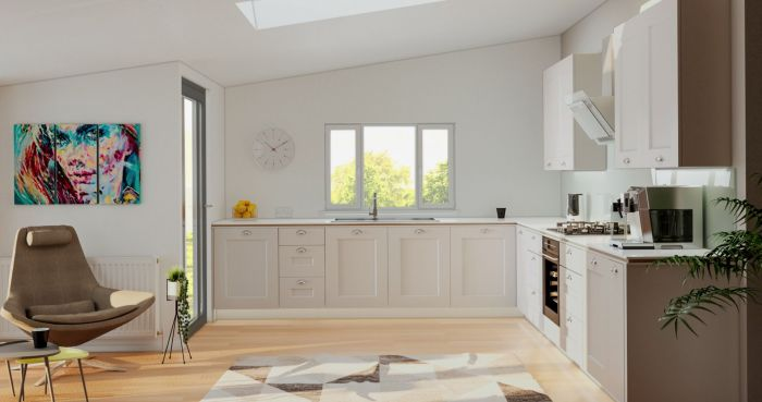 Cambridge Matt Stone Grey Kitchen