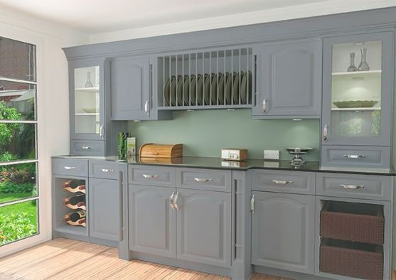 Canterbury Matt Denim Kitchen Doors
