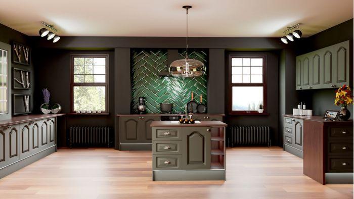 Canterbury Matt Graphite Kitchen Doors