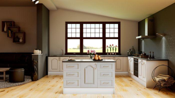 Canterbury Oakgrain Grey Kitchen Doors