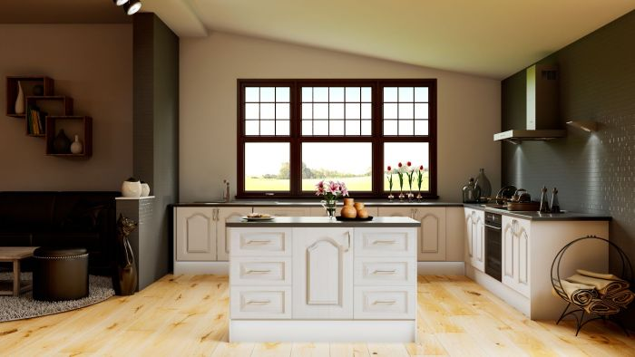 Canterbury Super White Ash Kitchen Doors