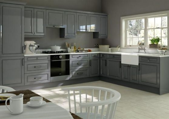 York High Gloss Dust Grey Kitchen