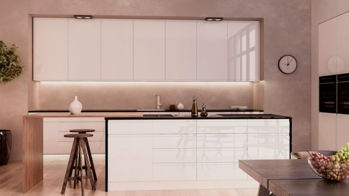Jayline High Gloss White Kitchen