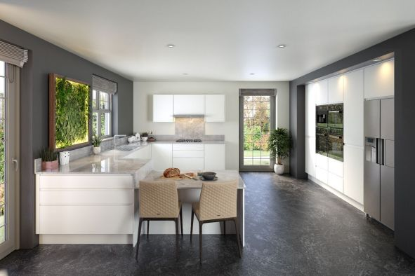 Jayline Supermatt White Kitchen
