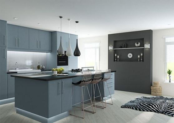 Lincoln Matt Denim Kitchen Doors