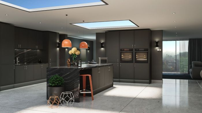 Lincoln Matt Graphite Kitchen Door
