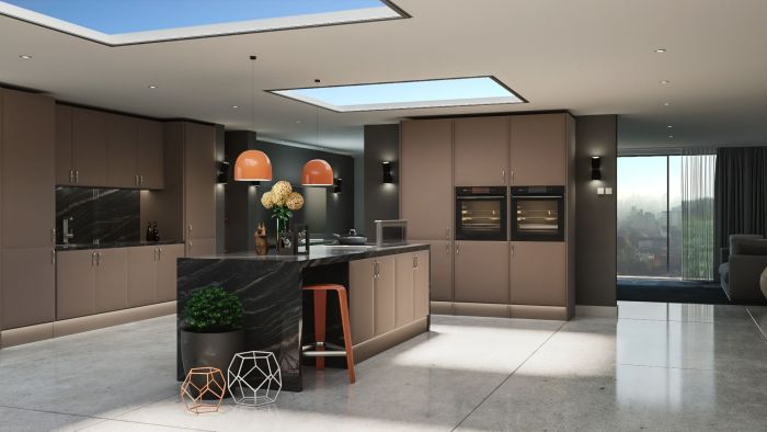 Lincoln Matt Stone Grey Kitchen Doors