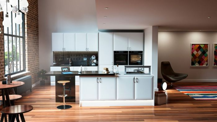 Lincoln Super White Ash Kitchen Doors