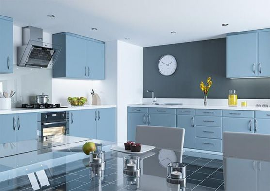 Pisa	Matt Denim Kitchen Doors