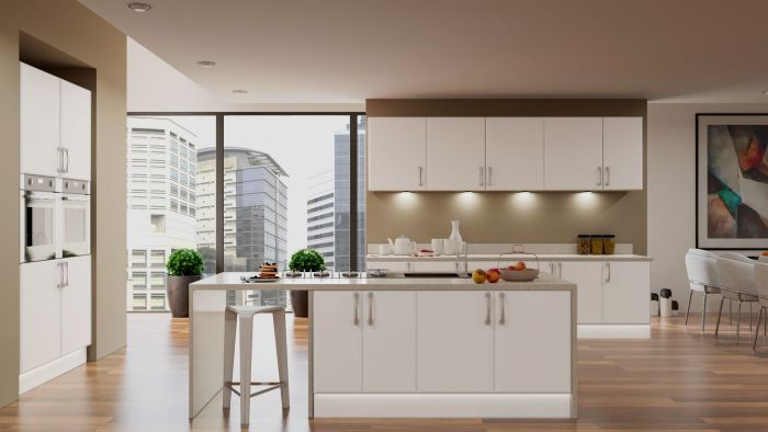 Bella Satin White Pisa Kitchen Doors