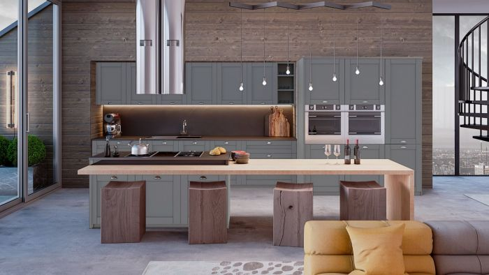 Bella Dust Grey Shaker Kitchen Doors