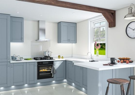 Shaker Matt Denim Kitchen Doors