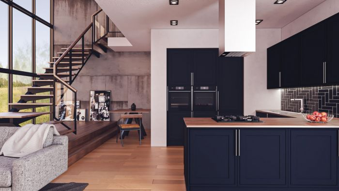 Bella Matt Indigo Blue Tullymore Kitchen Doors
