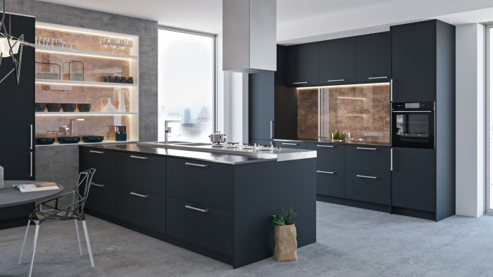 Bella Indigo Blue Venice Kitchen Doors