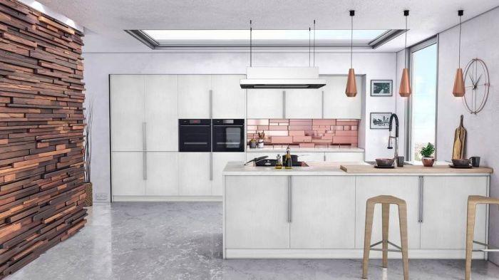 Venice Oakgrain Grey Kitchen Doors