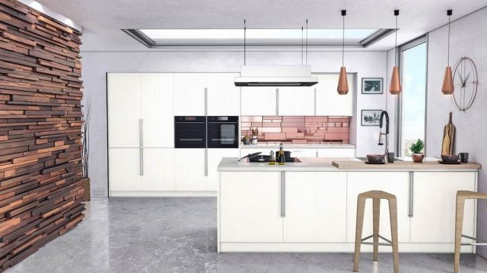 Venice Super White Ash Kitchen Doors