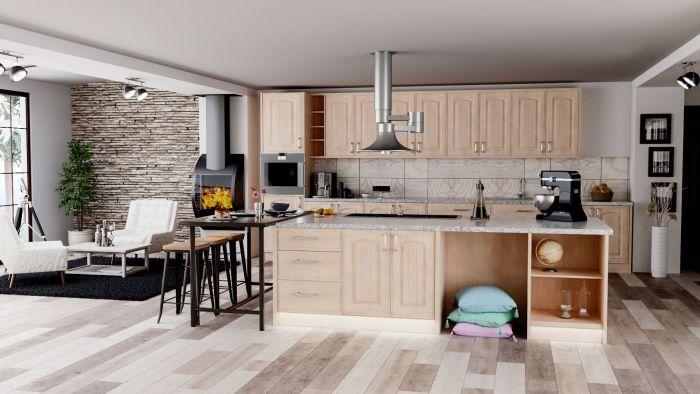 Bella Canadian Maple Westbury Kitchen Doors