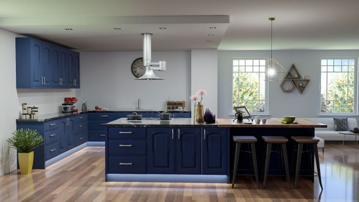 Bella Indigo Blue Westbury Kitchen Doors