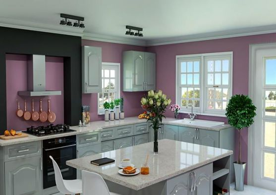 Canterbury High Gloss Light Grey Kitchen Doors