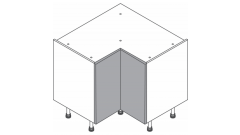 880X880mm - L-Shape Base Unit