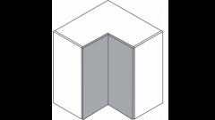 600mm - L-Shape Corner Wall Unit - (900h)