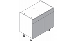 1000mm - Double Sink Unit - Dummy Drawers